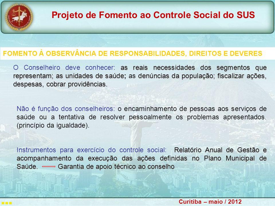 FOMENTO À OBSERVÂNCIA DE RESPONSABILIDADES, DIREITOS E DEVERES