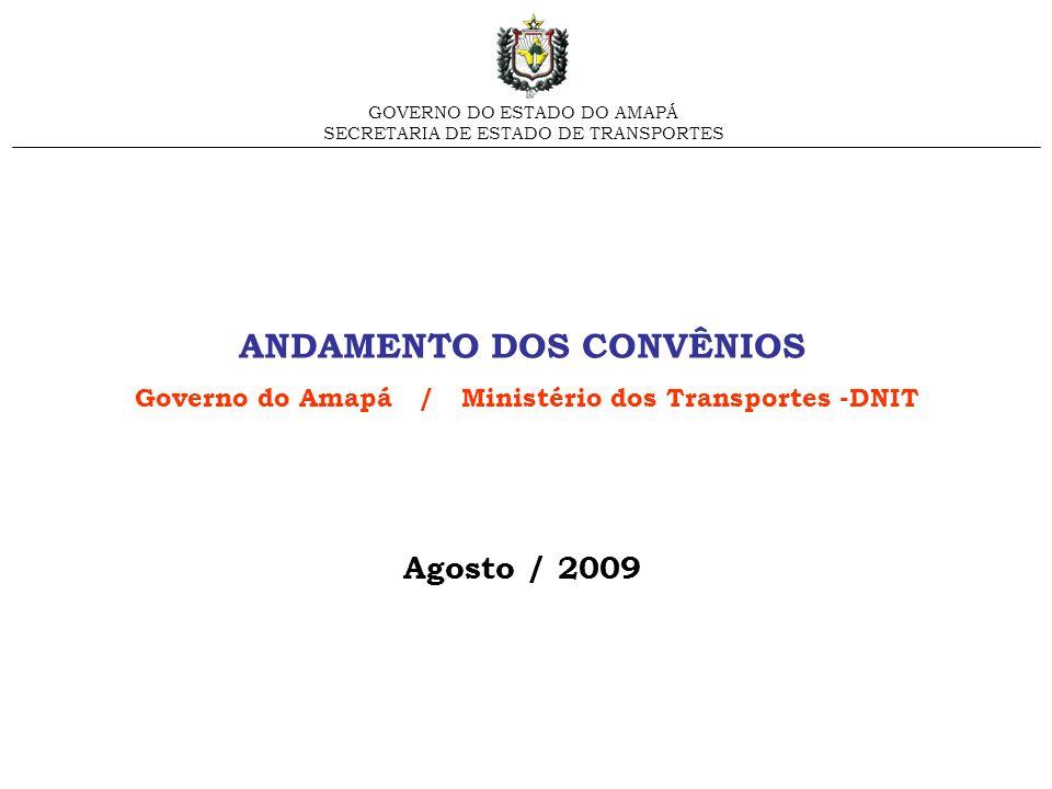 ANDAMENTO DOS CONVÊNIOS