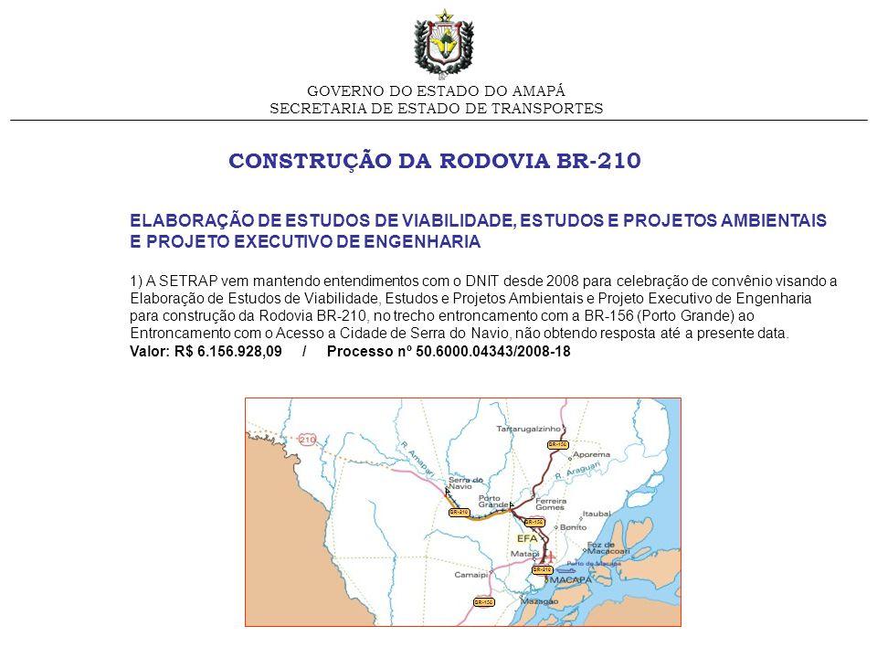 CONSTRUÇÃO DA RODOVIA BR-210