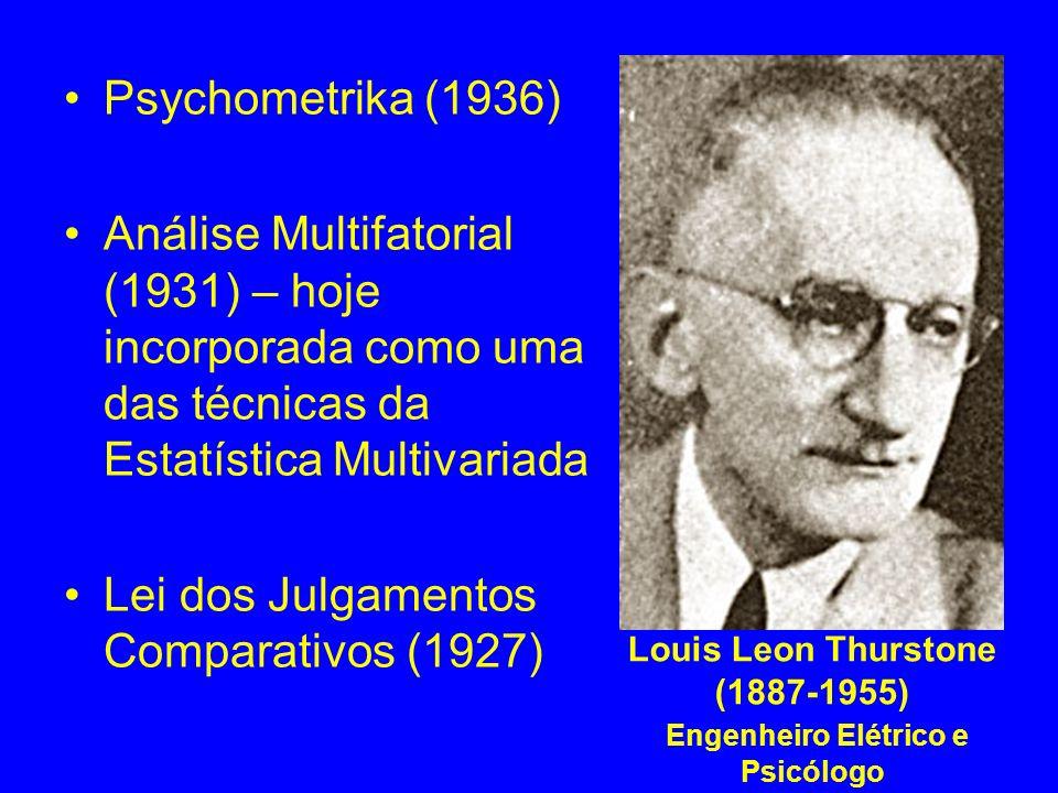 Louis Leon Thurstone (1887-1955) Engenheiro Elétrico e Psicólogo