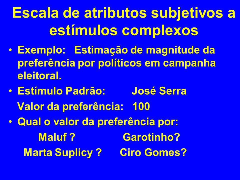 Escala de atributos subjetivos a estímulos complexos