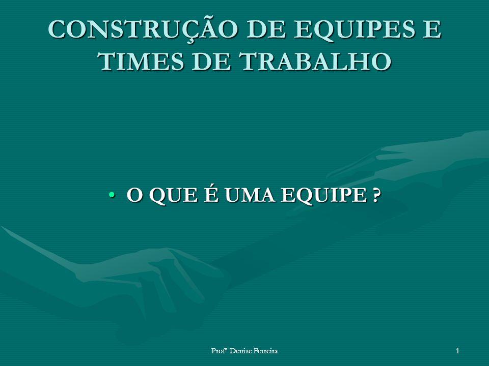 CONSTRUÇÃO DE EQUIPES E TIMES DE TRABALHO
