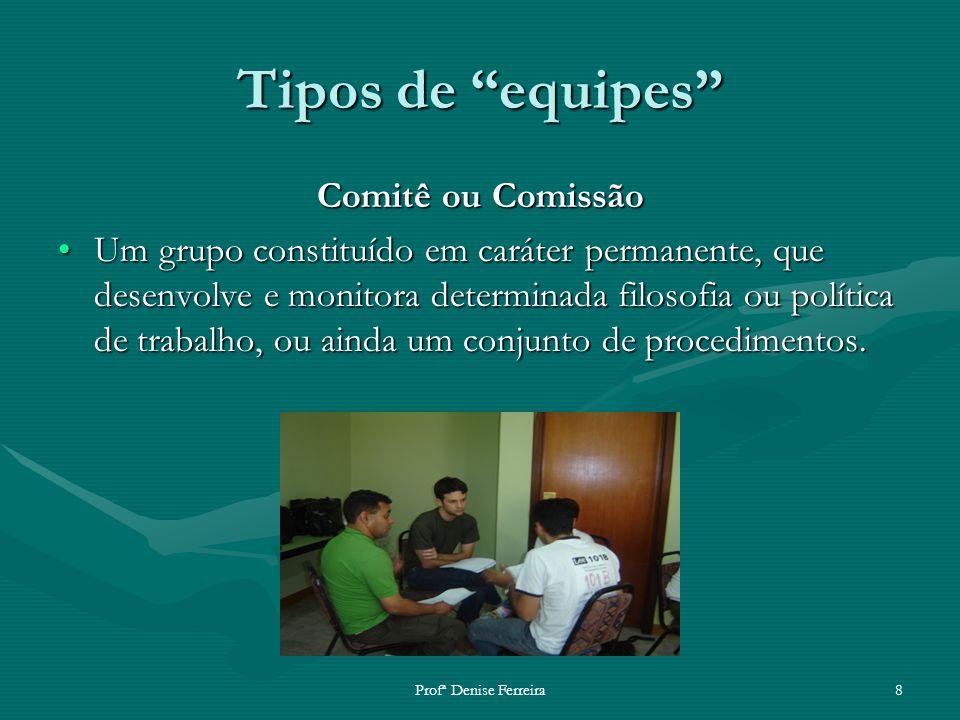 Tipos de equipes Comitê ou Comissão