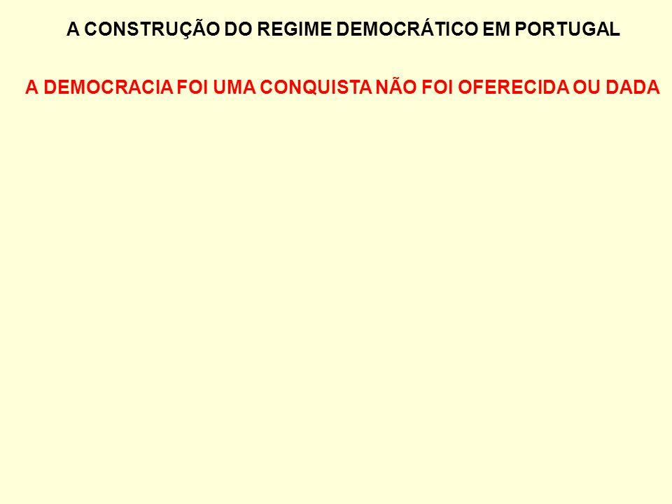 A CONSTRUÇÃO DO REGIME DEMOCRÁTICO EM PORTUGAL