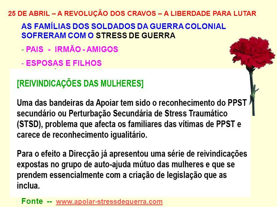 Fonte -- www.apoiar-stressdeguerra.com