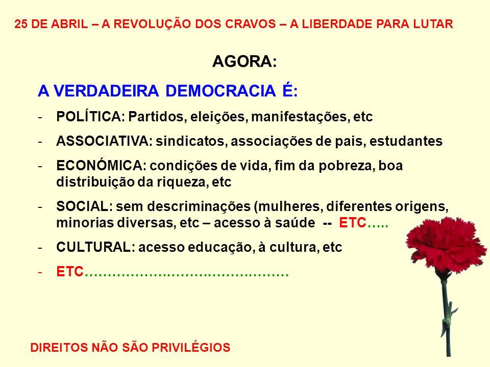 A VERDADEIRA DEMOCRACIA É:
