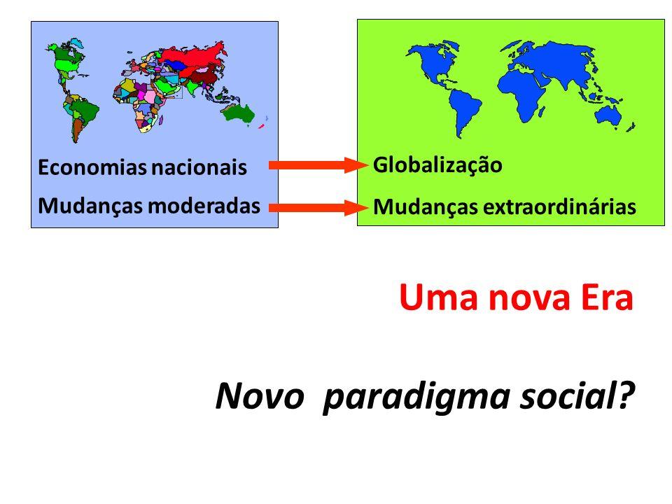 Uma nova Era Novo paradigma social Economias nacionais Globalização