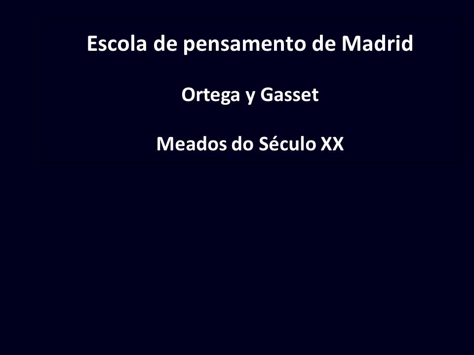 Escola de pensamento de Madrid
