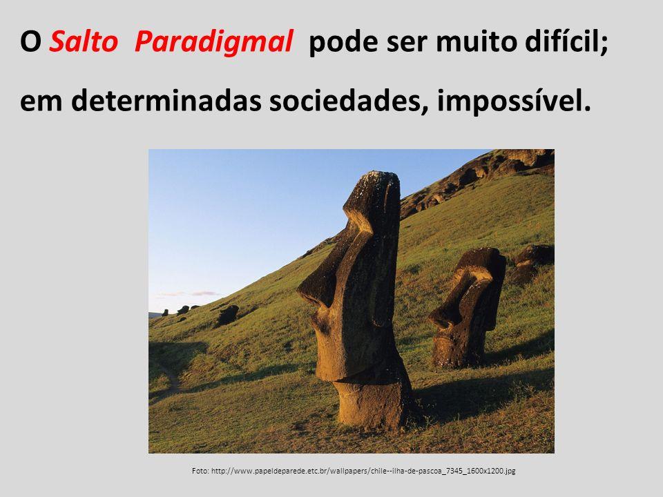 O Salto Paradigmal pode ser muito difícil; em determinadas sociedades, impossível.