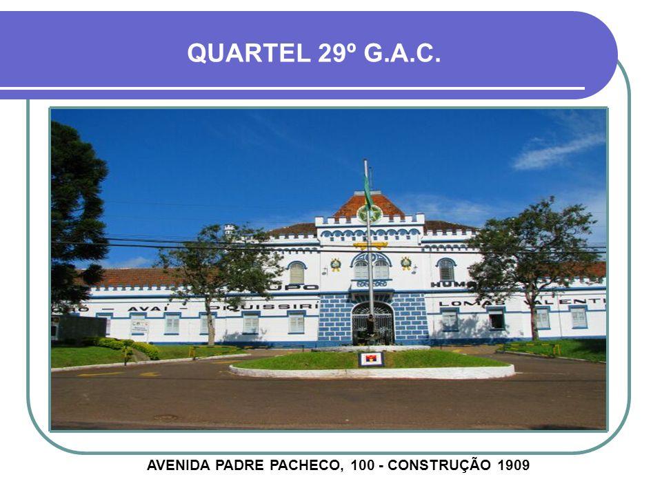 AVENIDA PADRE PACHECO, 100 - CONSTRUÇÃO 1909