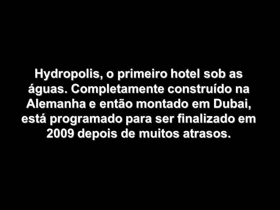 Hydropolis, o primeiro hotel sob as águas