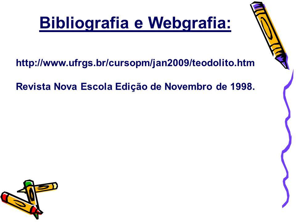 Bibliografia e Webgrafia: