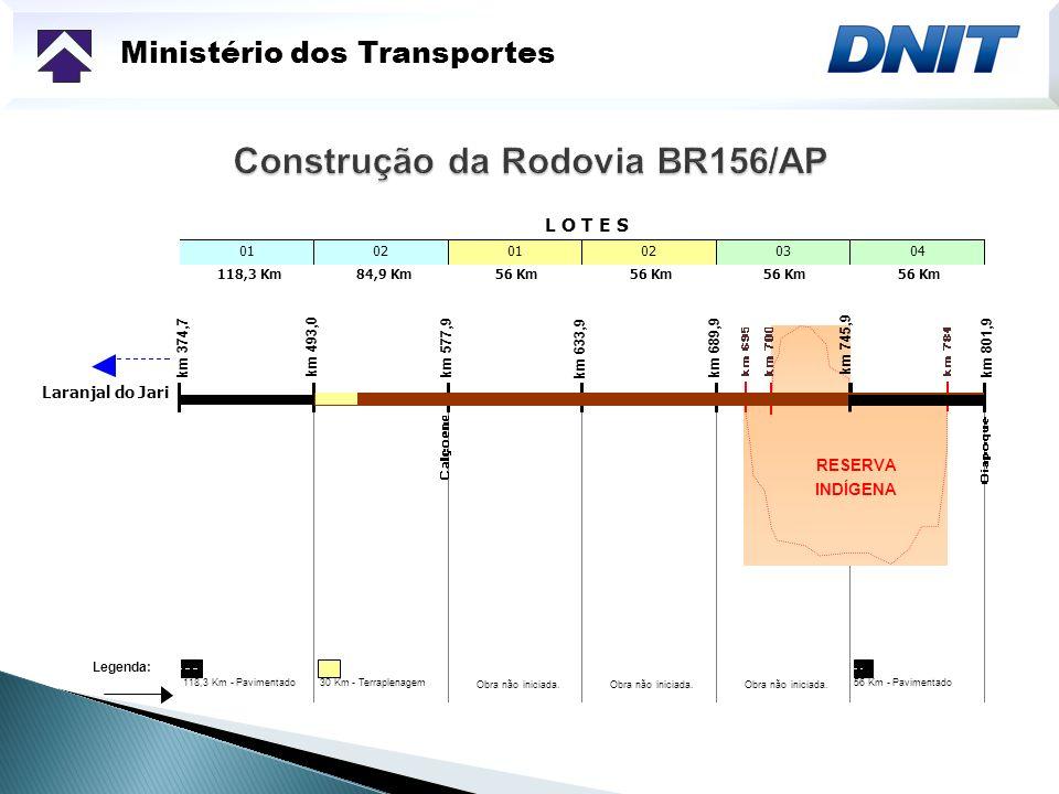 Construção da Rodovia BR156/AP