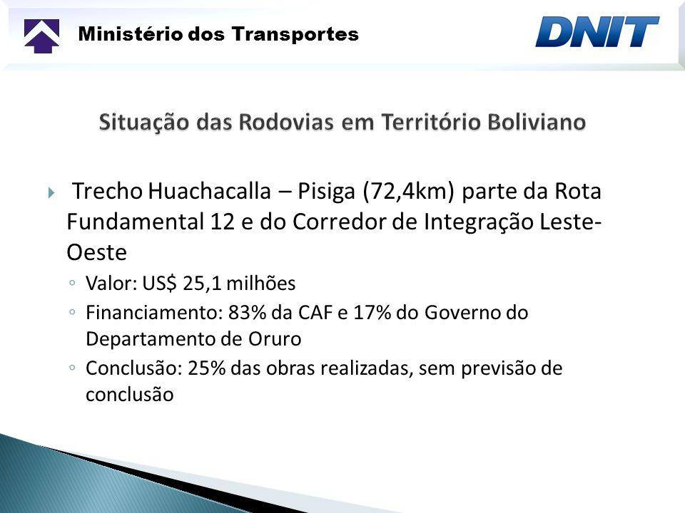 Situação das Rodovias em Território Boliviano