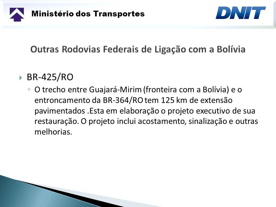 Outras Rodovias Federais de Ligação com a Bolívia