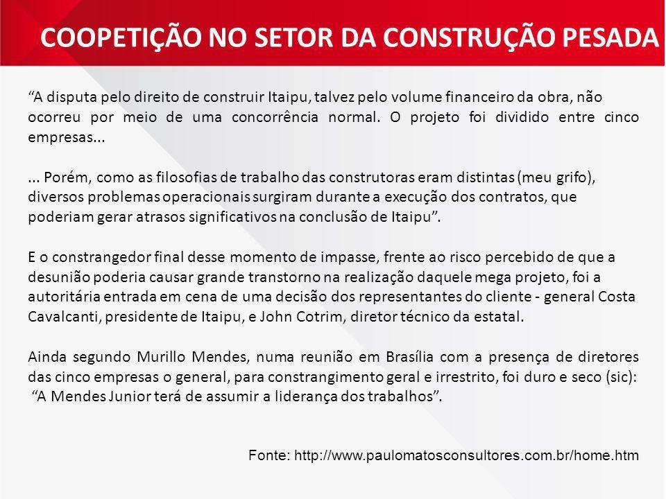 COOPETIÇÃO NO SETOR DA CONSTRUÇÃO PESADA