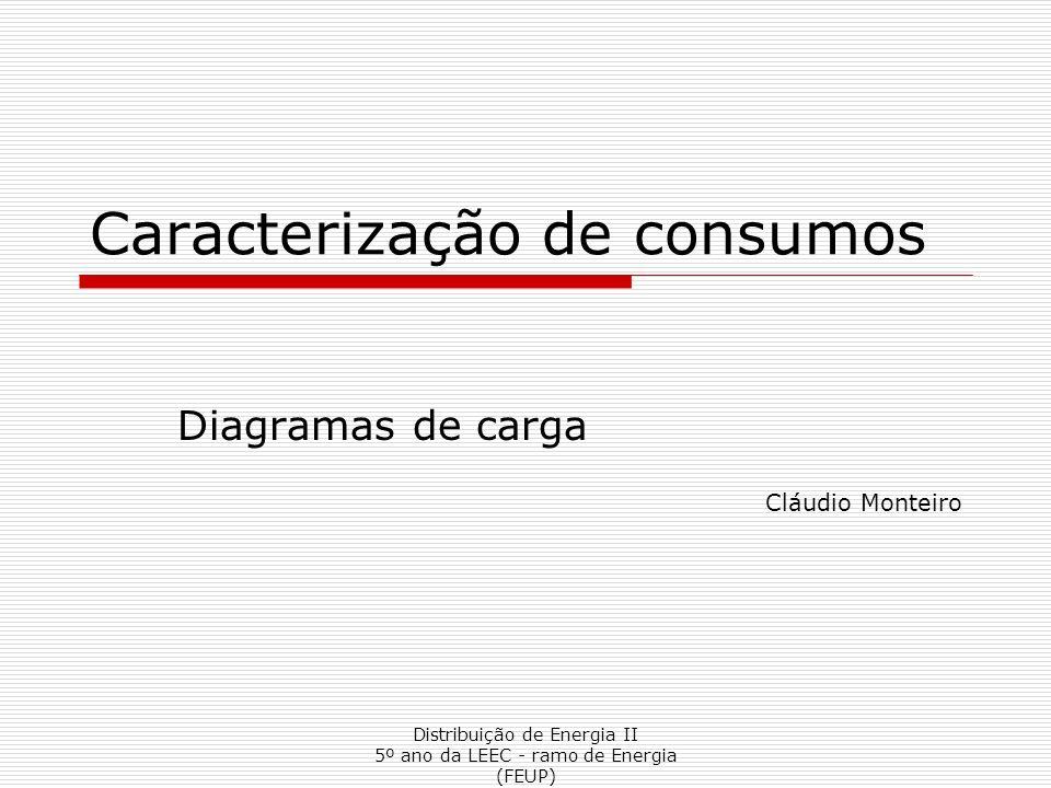 Caracterização de consumos