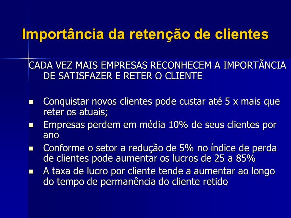 Importância da retenção de clientes