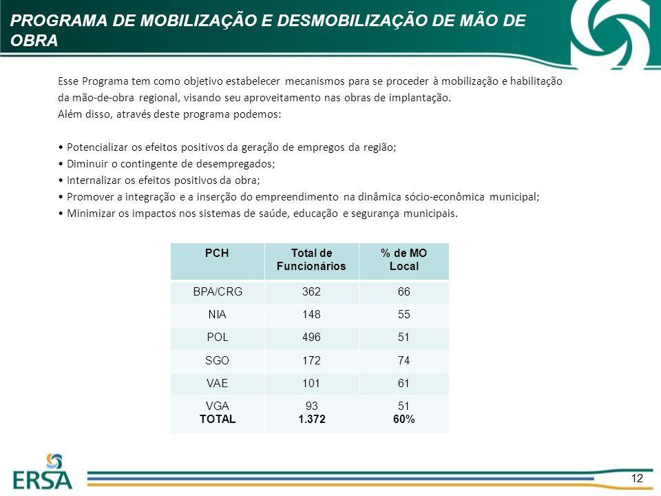PROGRAMA DE MOBILIZAÇÃO E DESMOBILIZAÇÃO DE MÃO DE OBRA