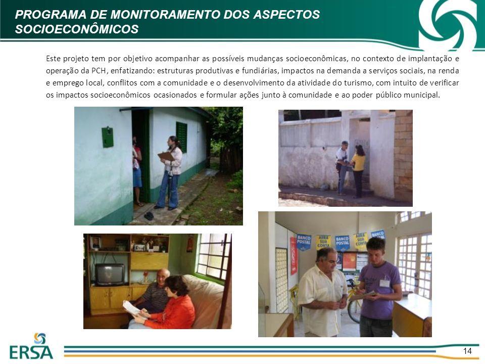PROGRAMA DE MONITORAMENTO DOS ASPECTOS SOCIOECONÔMICOS