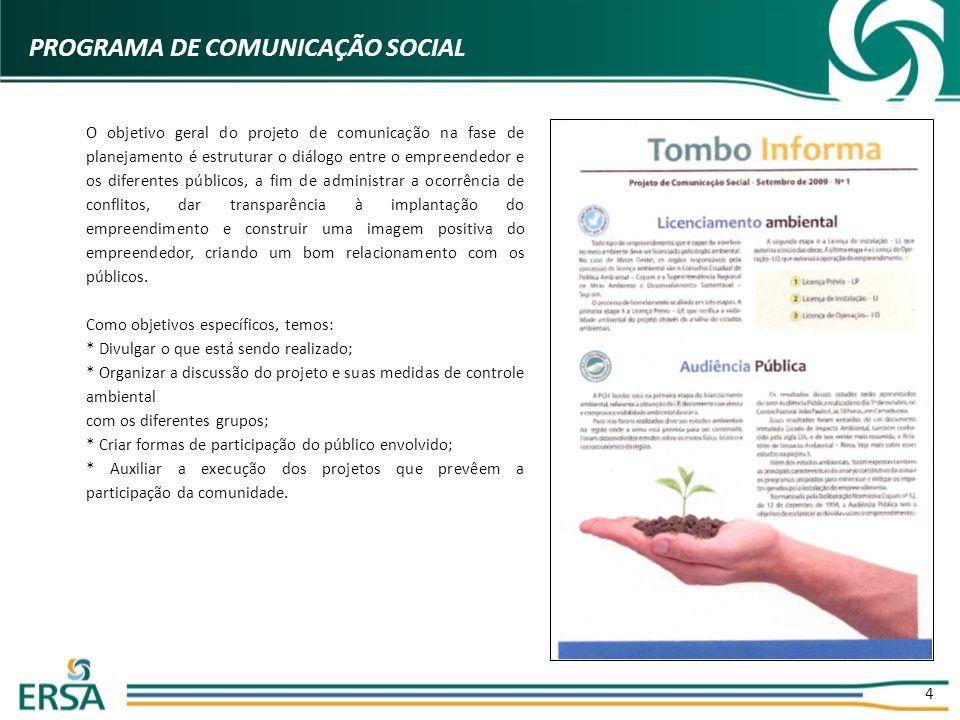 PROGRAMA DE COMUNICAÇÃO SOCIAL