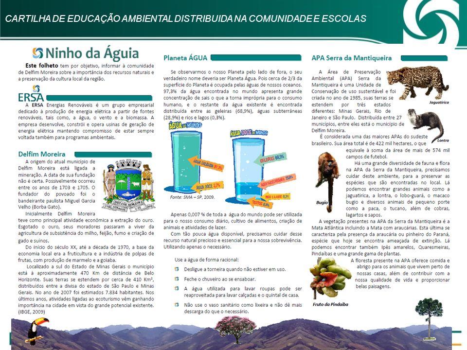 CARTILHA DE EDUCAÇÃO AMBIENTAL DISTRIBUIDA NA COMUNIDADE E ESCOLAS