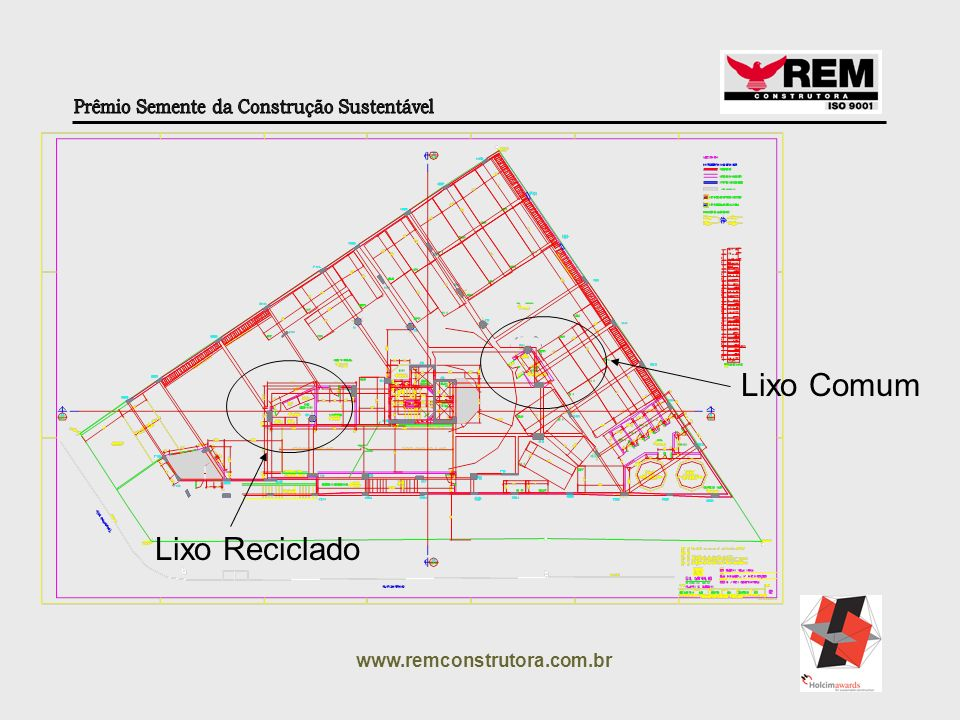 Lixo Comum Lixo Reciclado www.remconstrutora.com.br