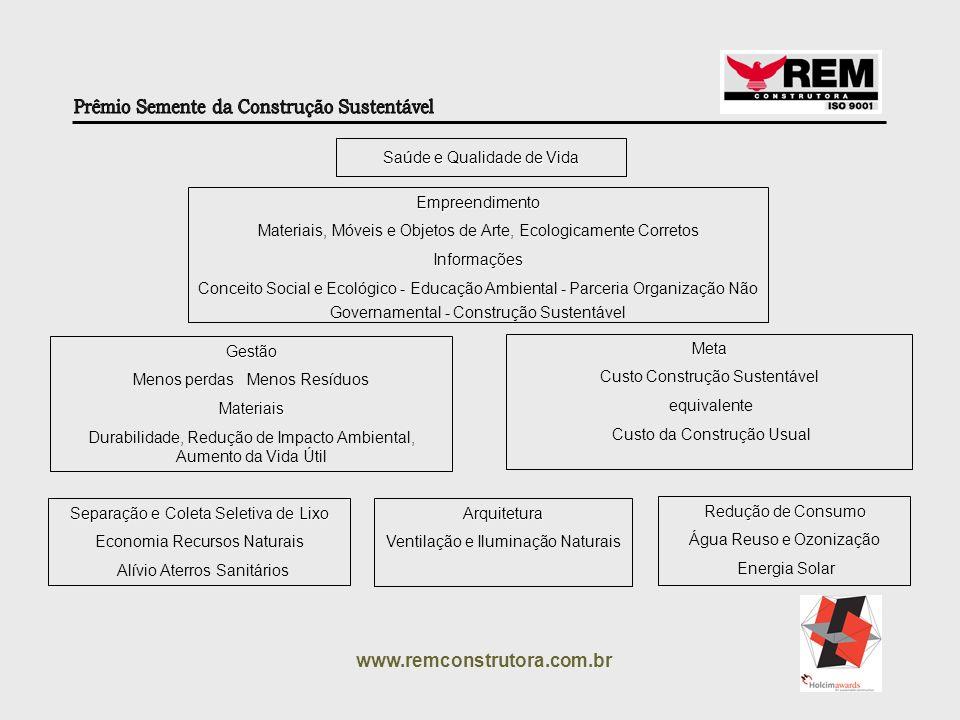 www.remconstrutora.com.br Saúde e Qualidade de Vida Empreendimento