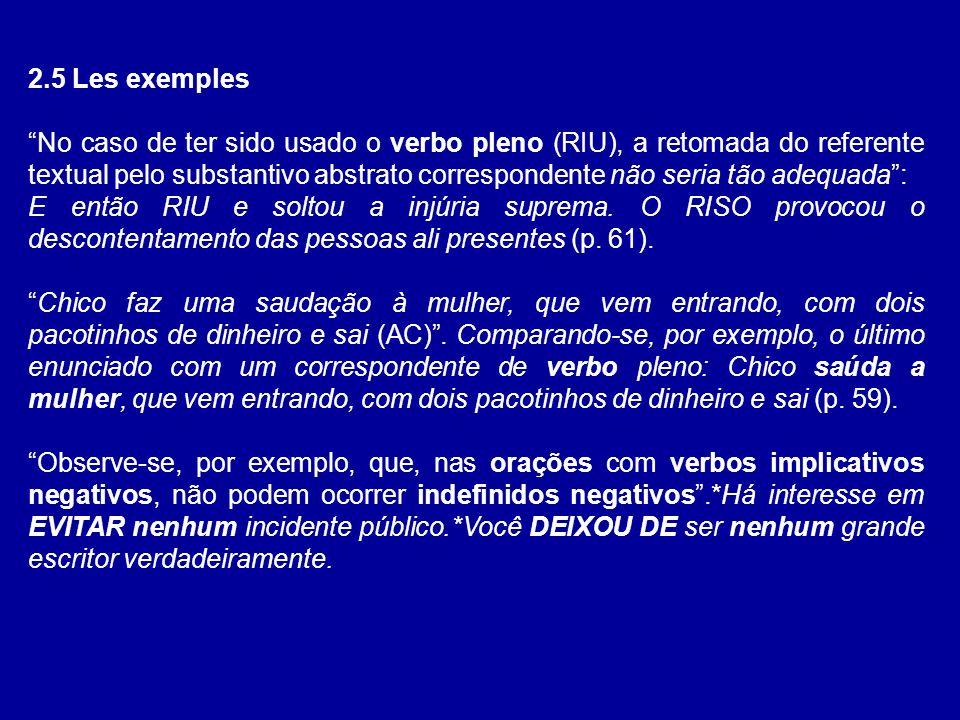 2.5 Les exemples