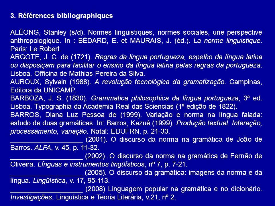 3. Références bibliographiques