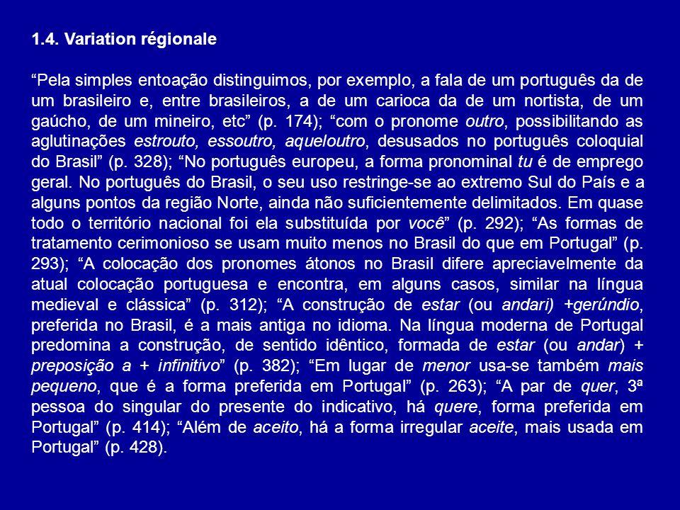 1.4. Variation régionale