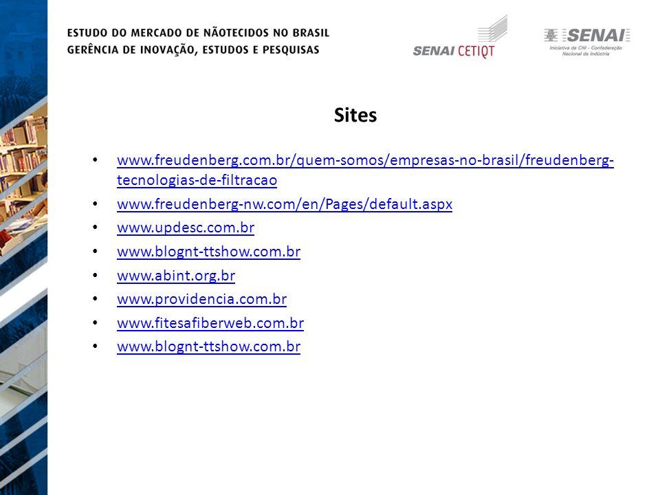 Sites www.freudenberg.com.br/quem-somos/empresas-no-brasil/freudenberg-tecnologias-de-filtracao. www.freudenberg-nw.com/en/Pages/default.aspx.