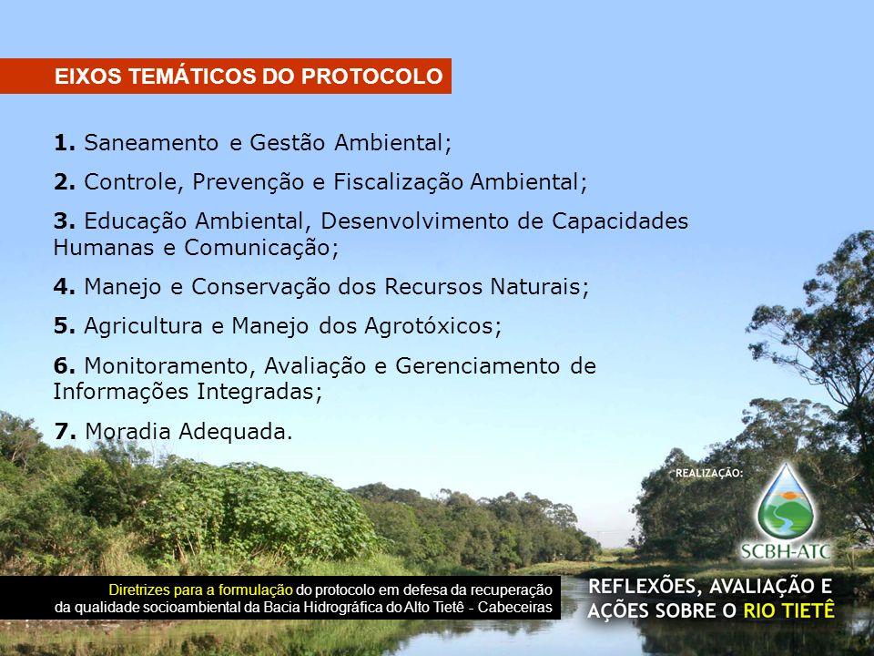EIXOS TEMÁTICOS DO PROTOCOLO