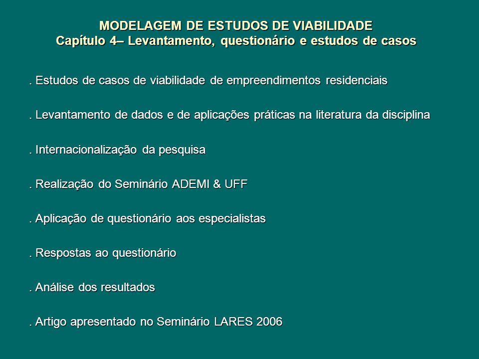 MODELAGEM DE ESTUDOS DE VIABILIDADE Capítulo 4– Levantamento, questionário e estudos de casos