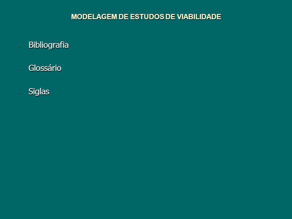 MODELAGEM DE ESTUDOS DE VIABILIDADE