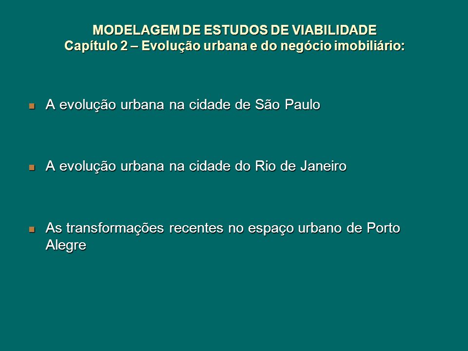 A evolução urbana na cidade de São Paulo