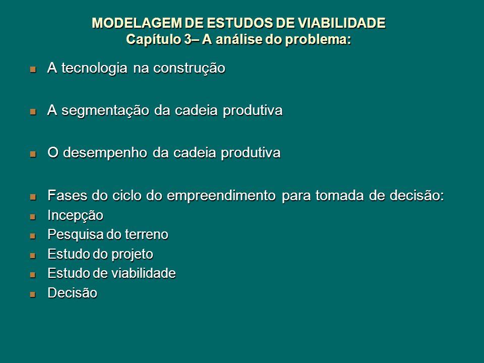 MODELAGEM DE ESTUDOS DE VIABILIDADE Capítulo 3– A análise do problema: