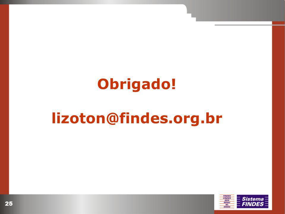 Obrigado! lizoton@findes.org.br