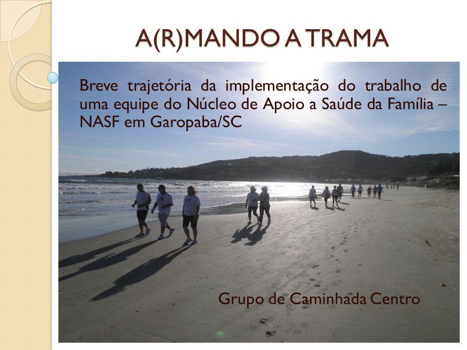 A(R)MANDO A TRAMA Breve trajetória da implementação do trabalho de uma equipe do Núcleo de Apoio a Saúde da Família – NASF em Garopaba/SC.