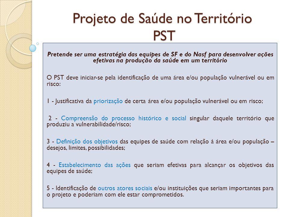 Projeto de Saúde no Território PST