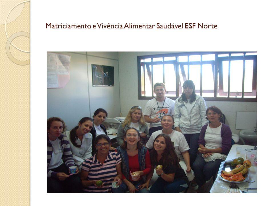 Matriciamento e Vivência Alimentar Saudável ESF Norte
