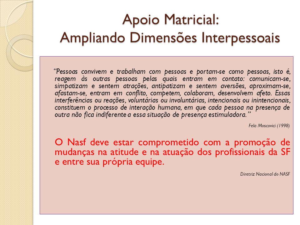 Apoio Matricial: Ampliando Dimensões Interpessoais
