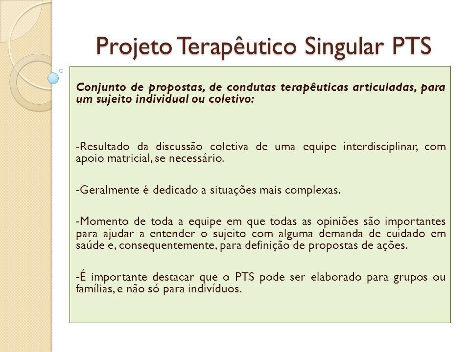 Projeto Terapêutico Singular PTS