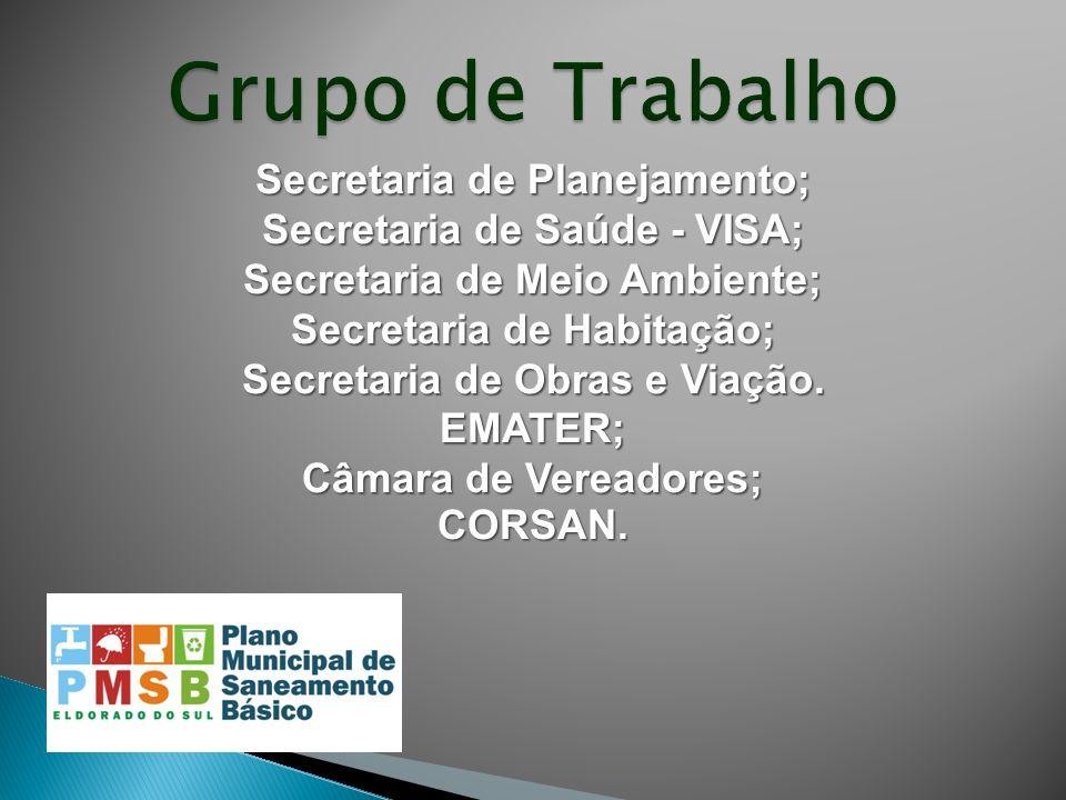 Grupo de Trabalho Secretaria de Planejamento;