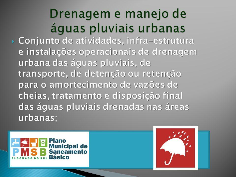 Drenagem e manejo de águas pluviais urbanas