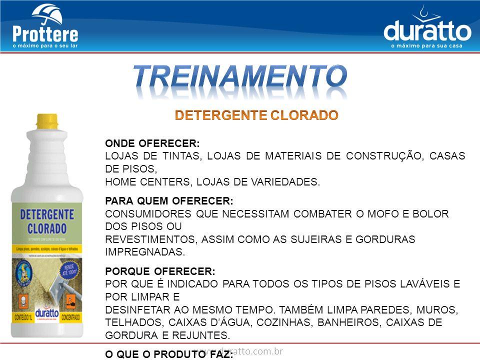 TREINAMENTO DETERGENTE CLORADO ONDE OFERECER: