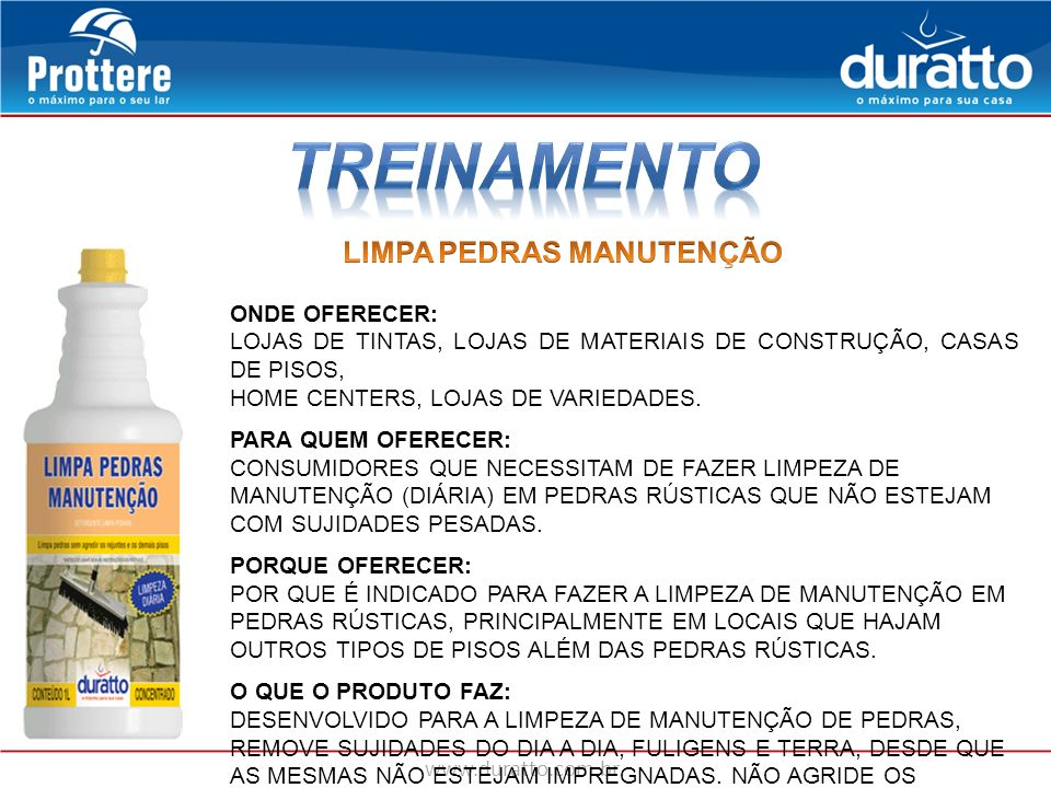 TREINAMENTO LIMPA PEDRAS MANUTENÇÃO ONDE OFERECER: