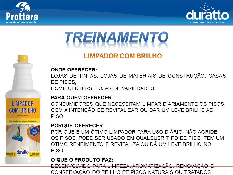 TREINAMENTO LIMPADOR COM BRILHO ONDE OFERECER: