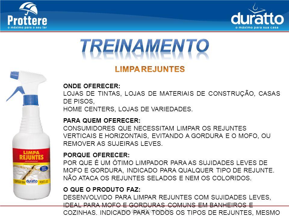 TREINAMENTO LIMPA REJUNTES ONDE OFERECER: