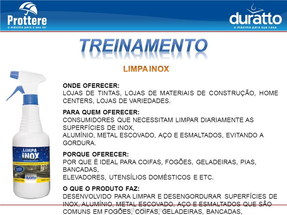 TREINAMENTO LIMPA INOX ONDE OFERECER: